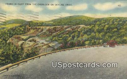 Franklin Cliff - Skyline Drive, Virginia VA Postcard