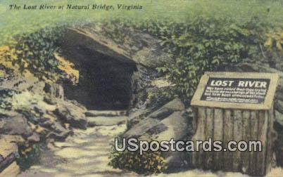 Lost River - Natural Bridge, Virginia VA Postcard