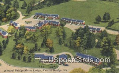 Natural Bridge Motor Lodge - Virginia VA Postcard