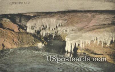 Underground River - Endless Caverns, Virginia VA Postcard