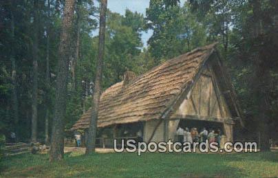 Jamestown Glasshouse - Virginia VA Postcard