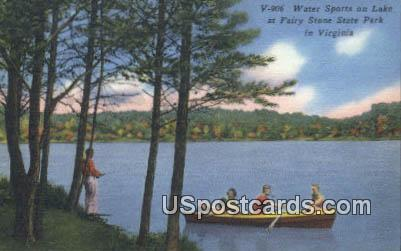 Lake - Fairy Stone State Park, Virginia VA Postcard