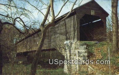 Old Covered Bridge - Meems Bottom, Virginia VA Postcard