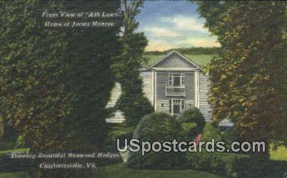 Home of James Monroe - Charlottesville, Virginia VA Postcard