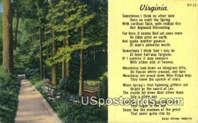 Misc, VA Postcard       ;         Misc, Virginia
