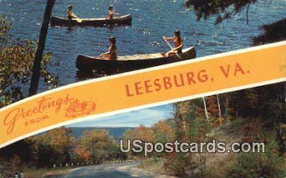 Leesburg, VA Postcard       ;         Leesburg, Virginia