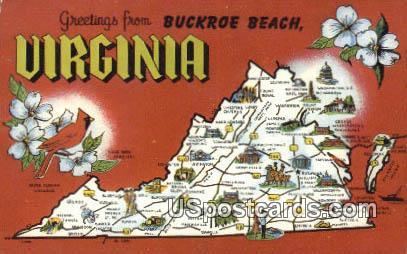 Greetings from, Virginia Postcard     ;       Greetings from, VA