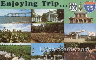 Edisto Gardens - Orangeburg, Virginia VA Postcard