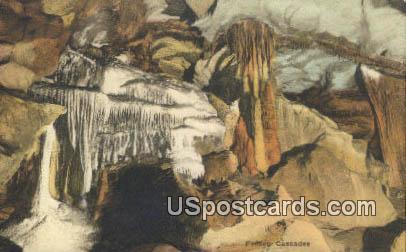 Frozen Cascades - Endless Caverns, Virginia VA Postcard
