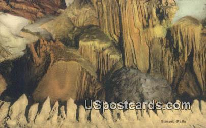 Sunset Falls - Endless Caverns, Virginia VA Postcard