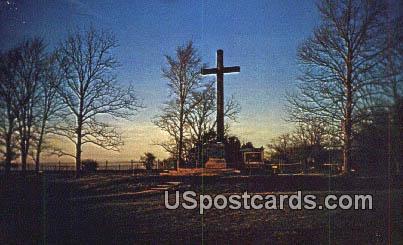 Memorial Cross - Jamestown, Virginia VA Postcard