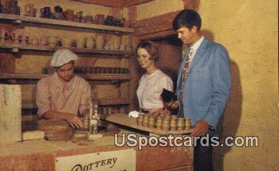 Making Pottery - Jamestown, Virginia VA Postcard