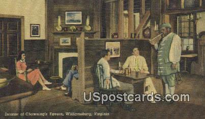 Chowning's Tavern - Williamsburg, Virginia VA Postcard