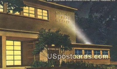 Roanoke Public Library - Virginia VA Postcard