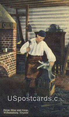 Deane Shop & Forge - Williamsburg, Virginia VA Postcard