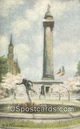 West Mount Vernon Place - Washington Monument, Virginia VA Postcard