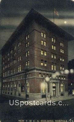 New YMCA Building - Norfolk, Virginia VA Postcard