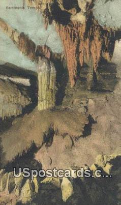 Solomon's Temple - Endless Caverns, Virginia VA Postcard