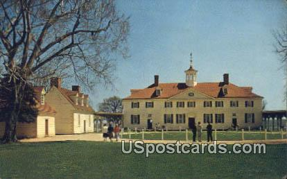 Home of Washington - Mt Vernon, Virginia VA Postcard
