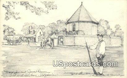 Magazine & Guard House - Williamsburg, Virginia VA Postcard