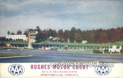 Hughes Motor Court - Martinsville, Virginia VA Postcard