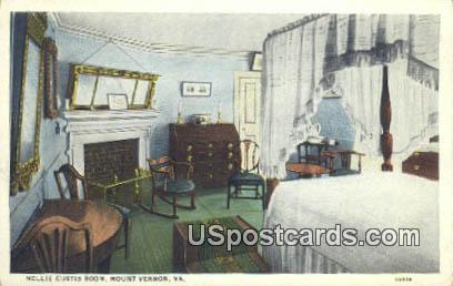 Nellie Cusitis Room - Mt Vernon, Virginia VA Postcard