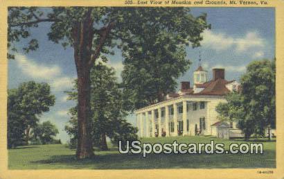Mansion & Grounds - Mt Vernon, Virginia VA Postcard