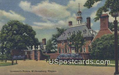 Governor's Mansion - Williamsburg, Virginia VA Postcard
