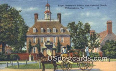 Royal Governor's Palace - Williamsburg, Virginia VA Postcard