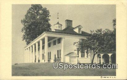 Mount Vernon Mansion - Mt Vernon, Virginia VA Postcard