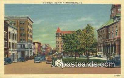 Court Square - Harrisonburg, Virginia VA Postcard