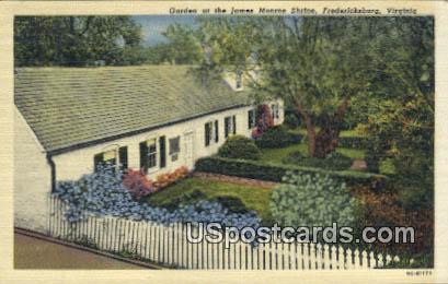 Garden, James Monroe Shrine - Fredericksburg, Virginia VA Postcard