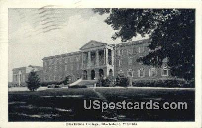 Blackstone College - Virginia VA Postcard