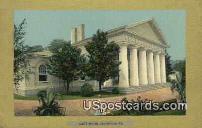 Lee's House - Arlington, Virginia VA Postcard