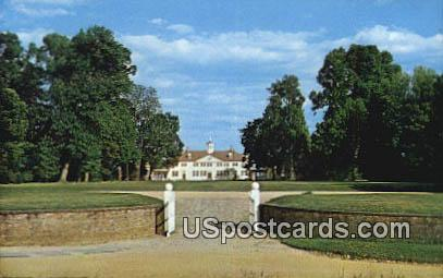 West Front, Bowling Green Gate - Mt Vernon, Virginia VA Postcard