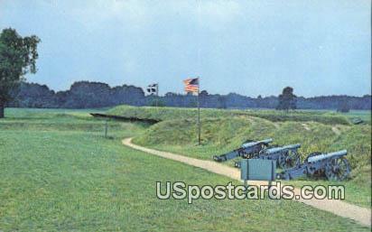 Second American Battery - Yorktown, Virginia VA Postcard