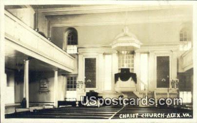 Real Photo - Christ Church - Alexandria, Virginia VA Postcard