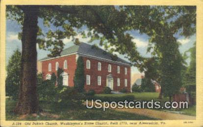 Old Pohick Church - Alexandria, Virginia VA Postcard