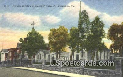 St Stephen's Episcopal Church - Culpeper, Virginia VA Postcard