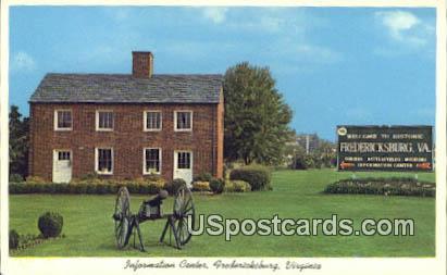 Information Center - Fredericksburg, Virginia VA Postcard