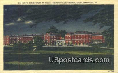 Men's Dormitory, University of Virginia - Charlottesville Postcard