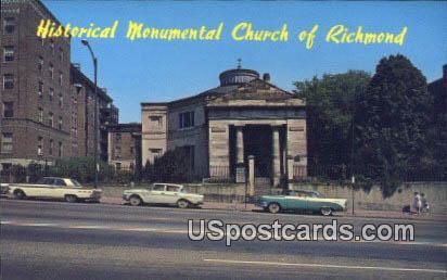 Monumental Church of Richmond - Virginia VA Postcard