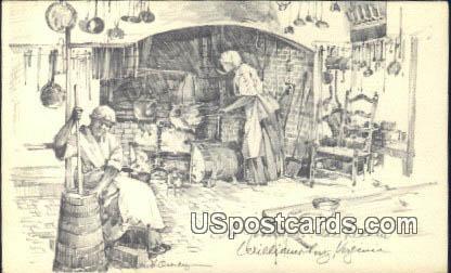Governor's Palace Kitchen - Williamsburg, Virginia VA Postcard