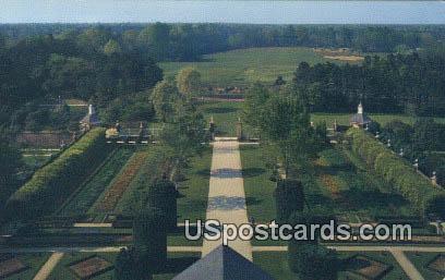 Palace Gardens - Williamsburg, Virginia VA Postcard