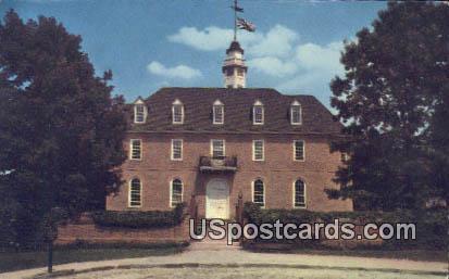 Capitol of Colonial - Williamsburg, Virginia VA Postcard