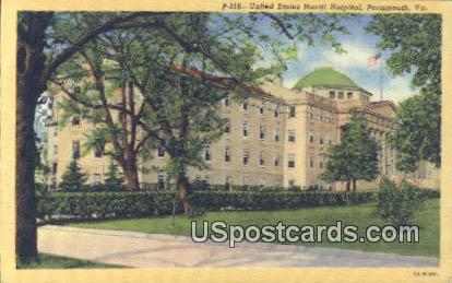 United States Naval Hospital - Portsmouth, Virginia VA Postcard
