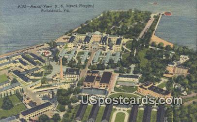US Naval Hospital - Portsmouth, Virginia VA Postcard