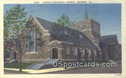 Christ's Episcopal Church - Roanoke, Virginia VA Postcard