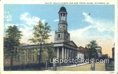 Old St Paul's Church - Richmond, Virginia VA Postcard