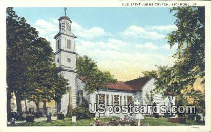 Old Saint Johns Church - Richmond, Virginia VA Postcard